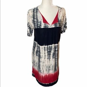 North Style v neck tie dye Dress